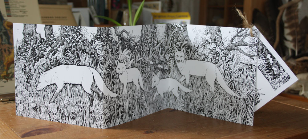 Foxes Abroad Concertina Card