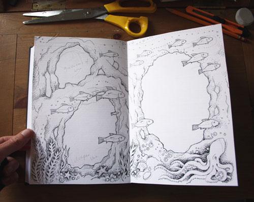 Work-in-prigress Altered Book