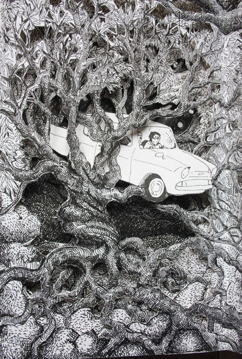 Harry Potter Ford Car in Whomping Willow