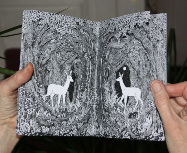 Printed papercut book