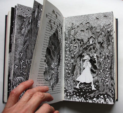 Journey Through the Forest Altered Book