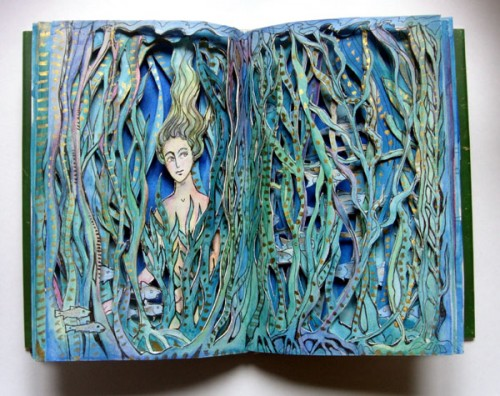 Kelp Maiden Altered Book