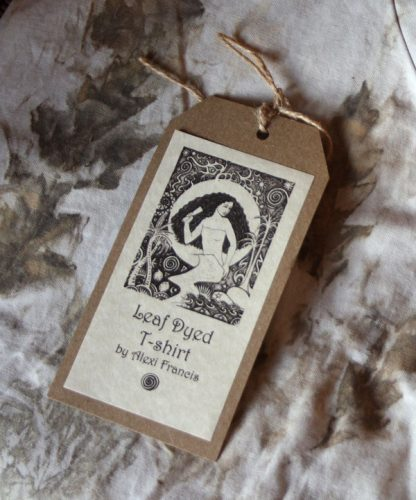 Leaf Dyed T-Shirt Label