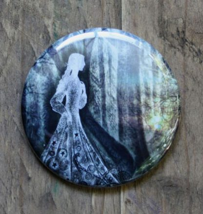 The Lady of the Woods Pocket Mirror