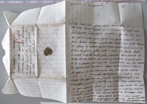 Undelivered 17th Century Letter