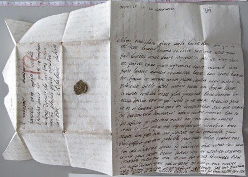 Undelivered 17th Century Letter