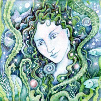 Maid of the Sea Greetings Card