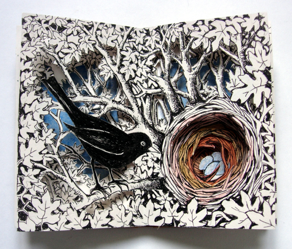 Blackbird Nest Altered Book