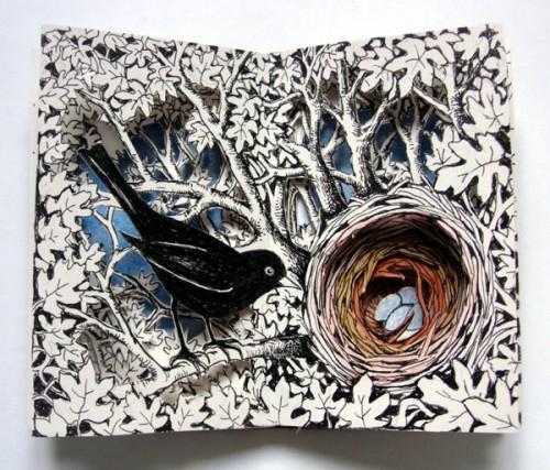 Nest Altered Book