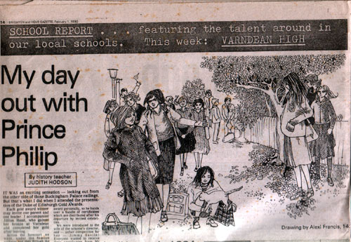 Old Newspaper with my Drawing