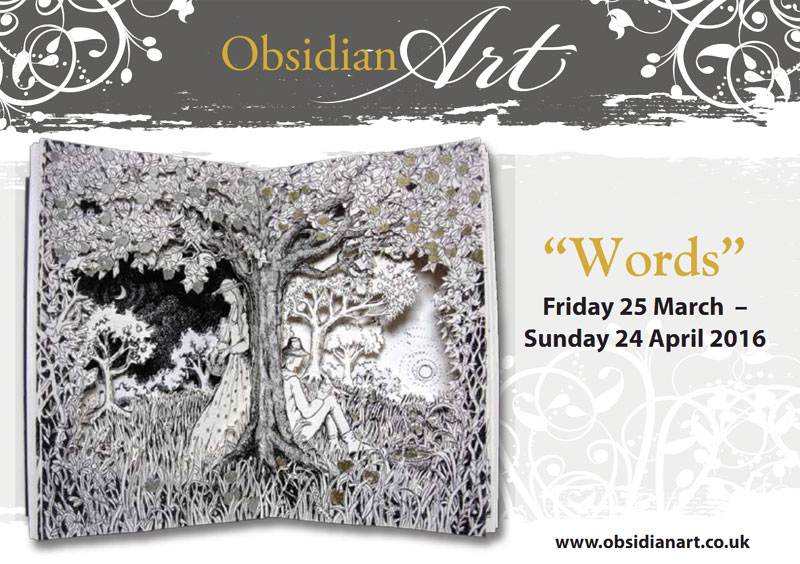 Obsidian Art Words Exhibition Flyer