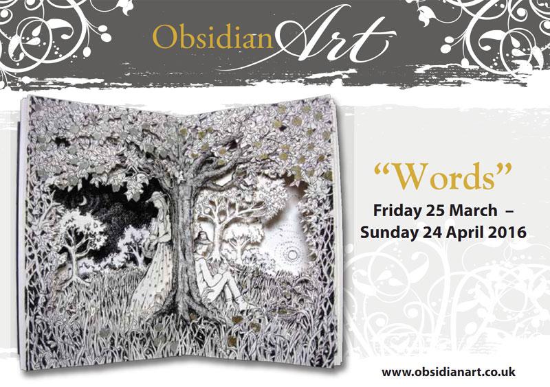 Obsidian Art Words Exhibition Flyer