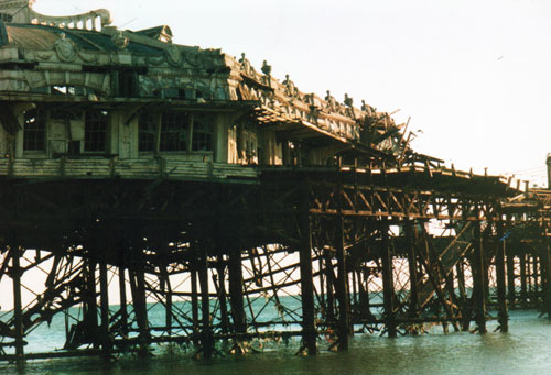 The West Pier Brighton in the 1990s