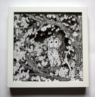Owl at Dusk Boxframe