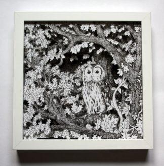 Owl at Dusk Boxframe