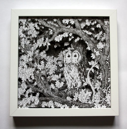 Owl at Dusk Box Frame