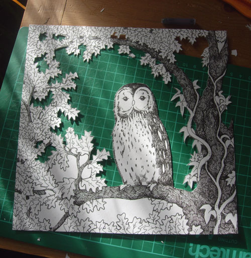 Owl Box Frame in Process
