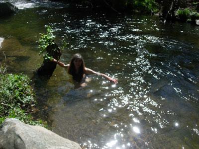 In the River at Pego Ferreiro