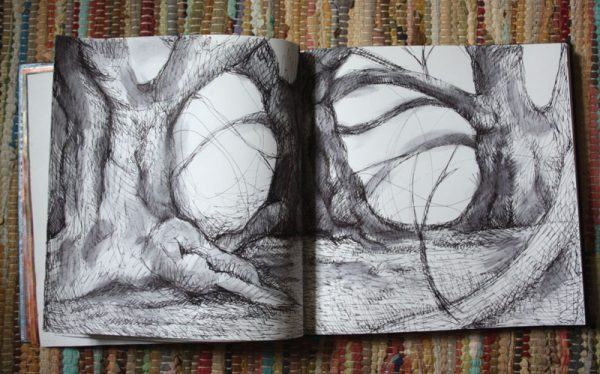 Pen and Wash Trees