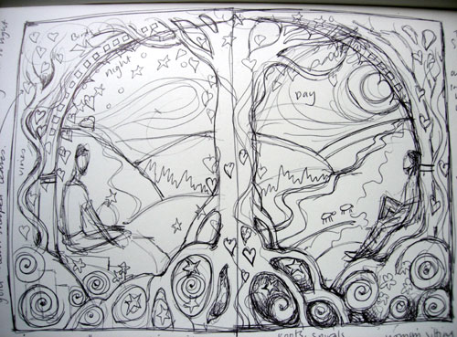 Rough Sketch for Altered Book