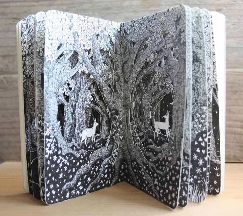 Two Deer Pocket Altered Book