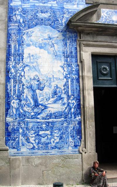 Jesus on a Kite Mural in Porto