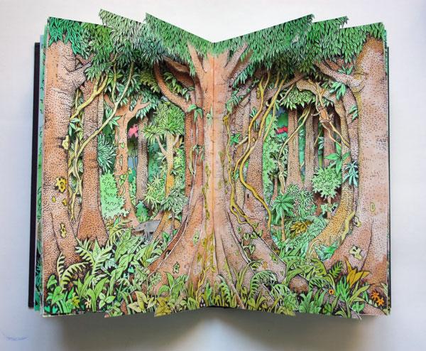 Rainforest Altered Book