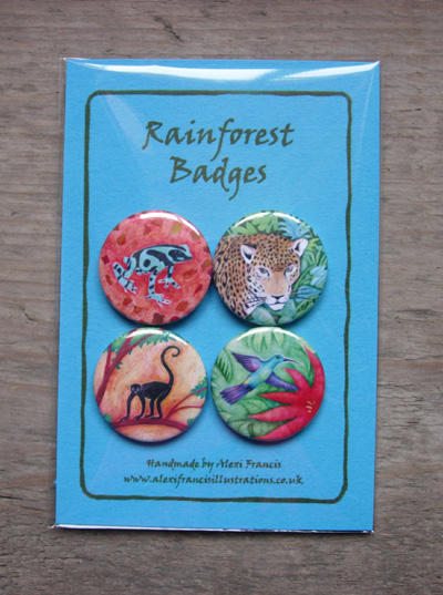Rainforest Badges