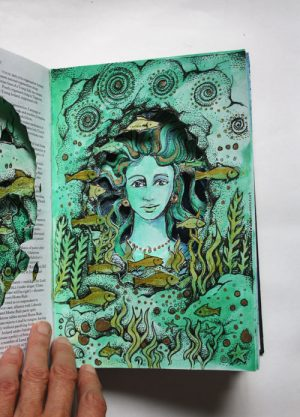 Sea Grotto Altered Book page1
