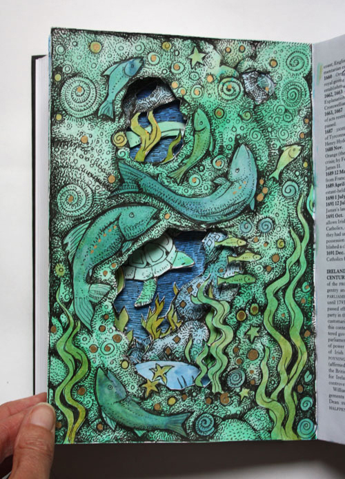 Sea Grotto Altered Book - page 3