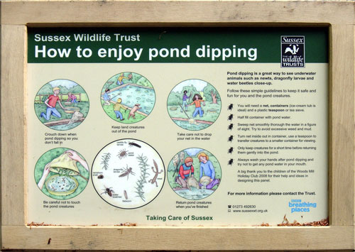 Interpretation Board at Seven Sisters Country Park