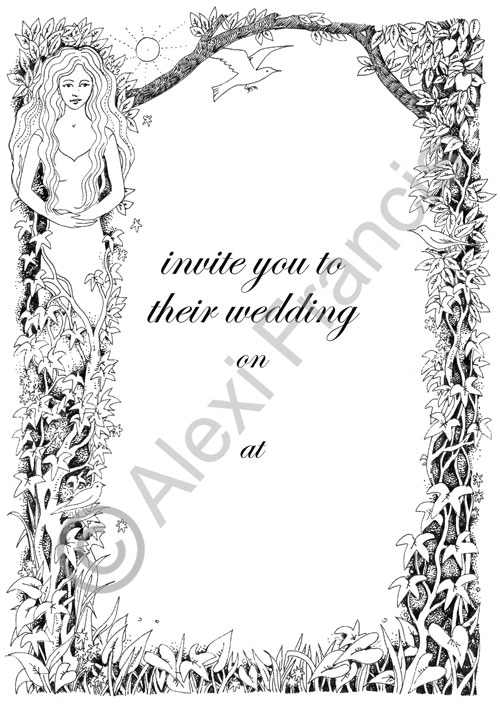 Goddess Wedding invitation