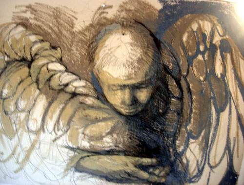 Angel Drawing by Paulien Gluckman