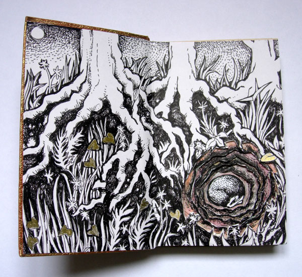 Sleeping badger Altered Book
