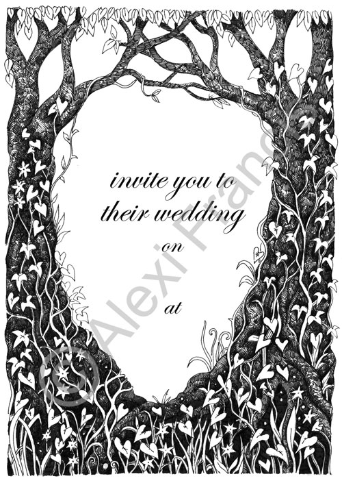 Spring Woodland Wedding Invitationn