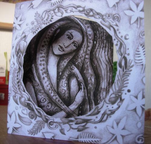 Star Goddess Sepia Card