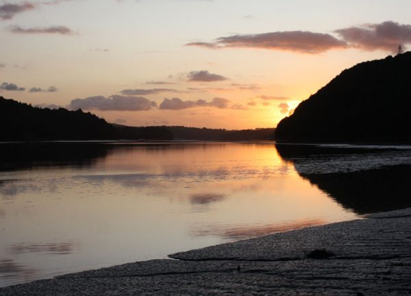 Sunset over the River Aulne
