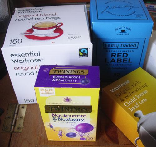 Empty Tea Boxes