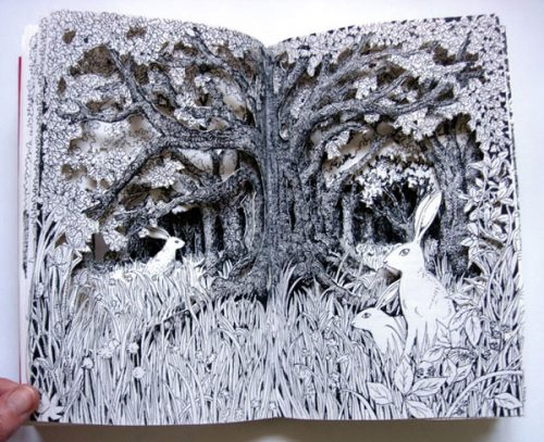 The Edge of the Wood Altered Book