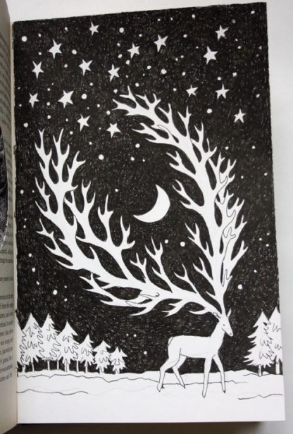 The Night Queen and the Deer Altered Book