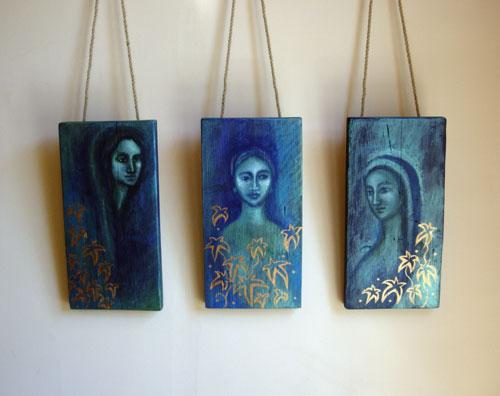 Triptych of Three Dryads