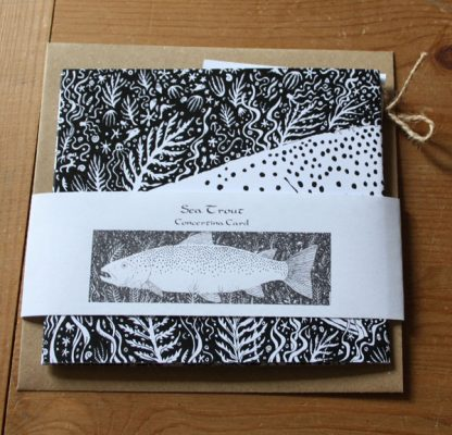 Sea Trout greetings card