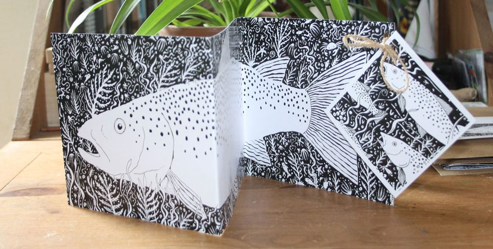Sea Trout Concertina Card