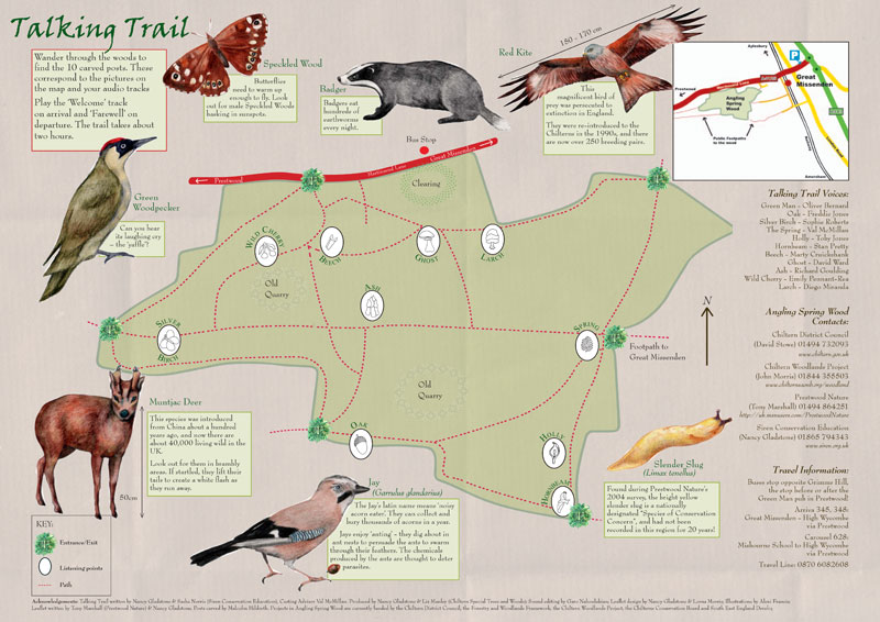 Angling Spring Wood Interpretation Map
