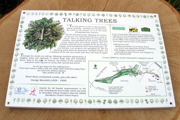Talking Trees interpretation board