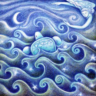 Turtle Dreaming Greetings Card