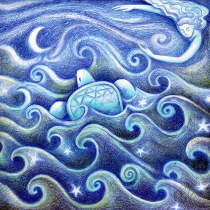 Turtle Dreaming Greetings Card