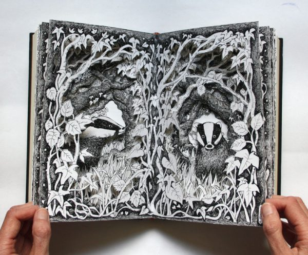 Two Badgers Altered Book