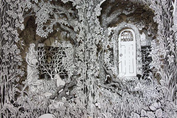 Detail from Wild Garden Altered Book