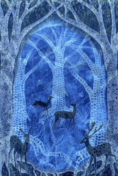 Winter Deer Greetings Card